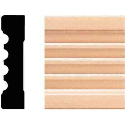 House of Fara 11/16 In. W. x 3 In. H. x 8 Ft. L. Natural Hardwood Fluted Wood Casing