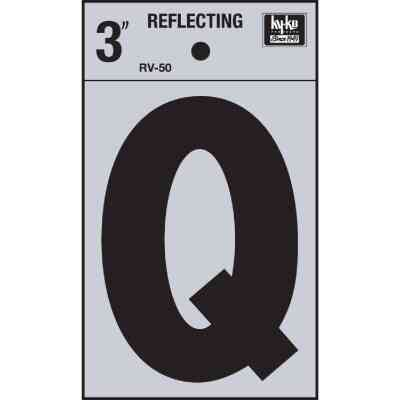 Hy-Ko Vinyl 3 In. Reflective Adhesive Letter, Q