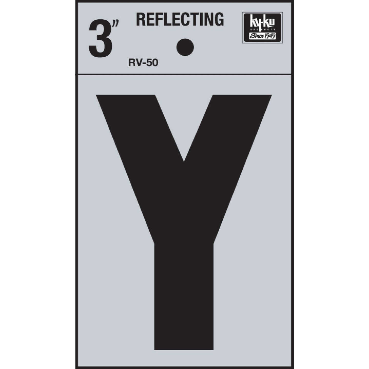 Hy-Ko Vinyl 3 In. Reflective Adhesive Letter, Y Image 1