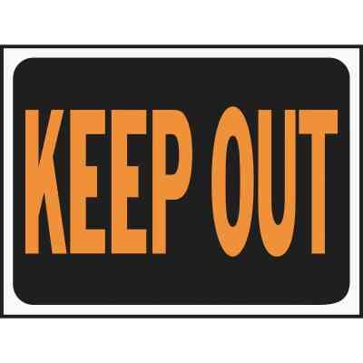 Hy-Ko Plastic Sign, Keep Out