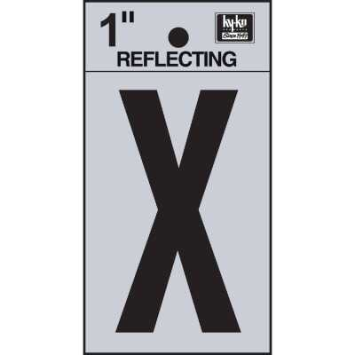 Hy-Ko Vinyl 1 In. Reflective Adhesive Letter, X