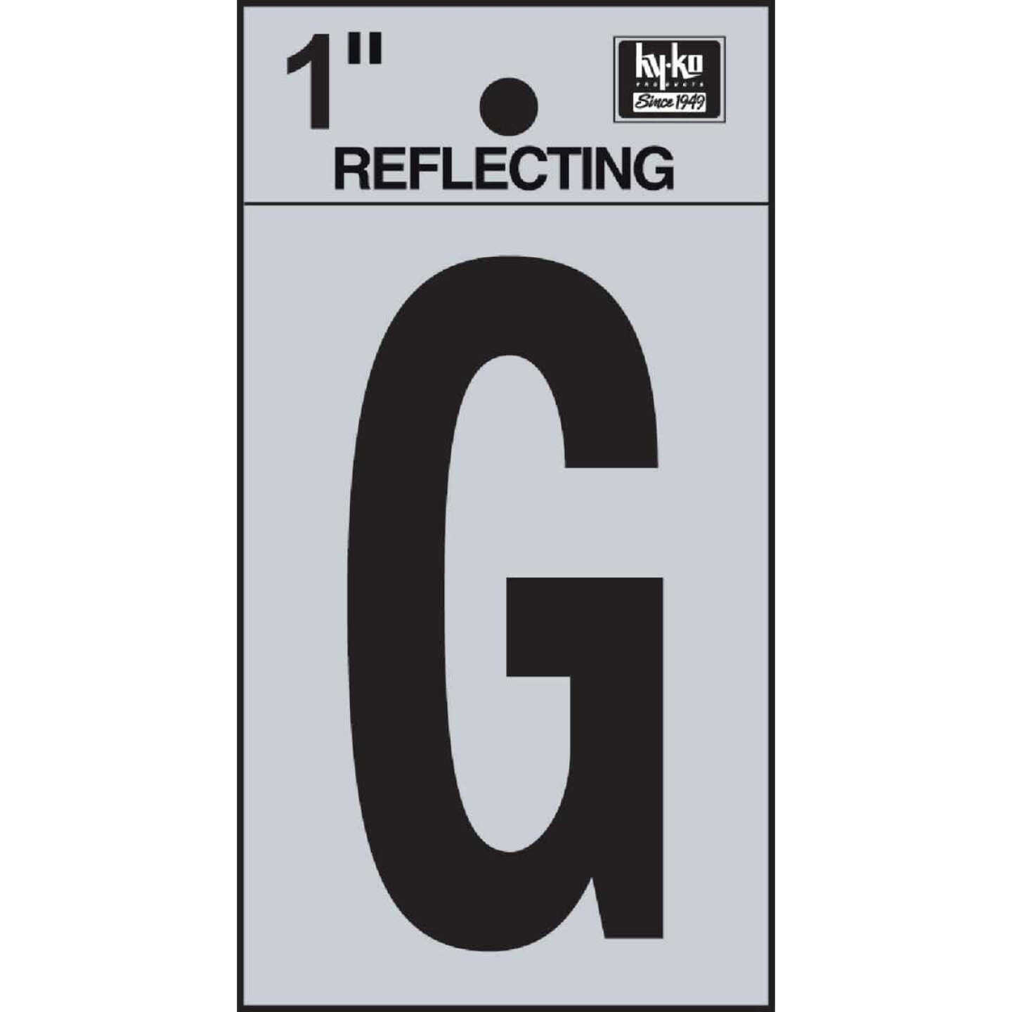 Hy-Ko Vinyl 1 In. Reflective Adhesive Letter, G Image 1