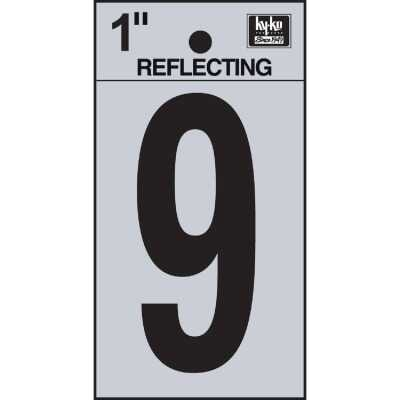 Hy-Ko Vinyl 1 In. Reflective Adhesive Number Nine