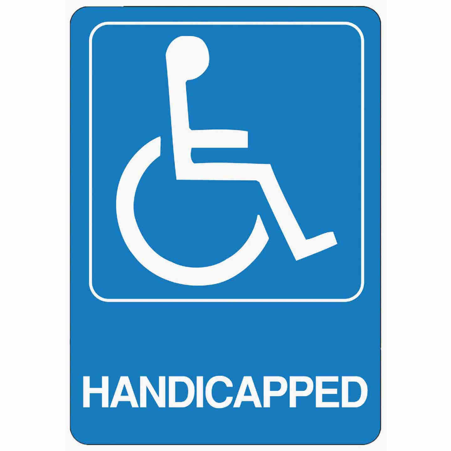 Hy-Ko Deco Series Heavy-Duty Plastic Sign, Handicapped Image 1