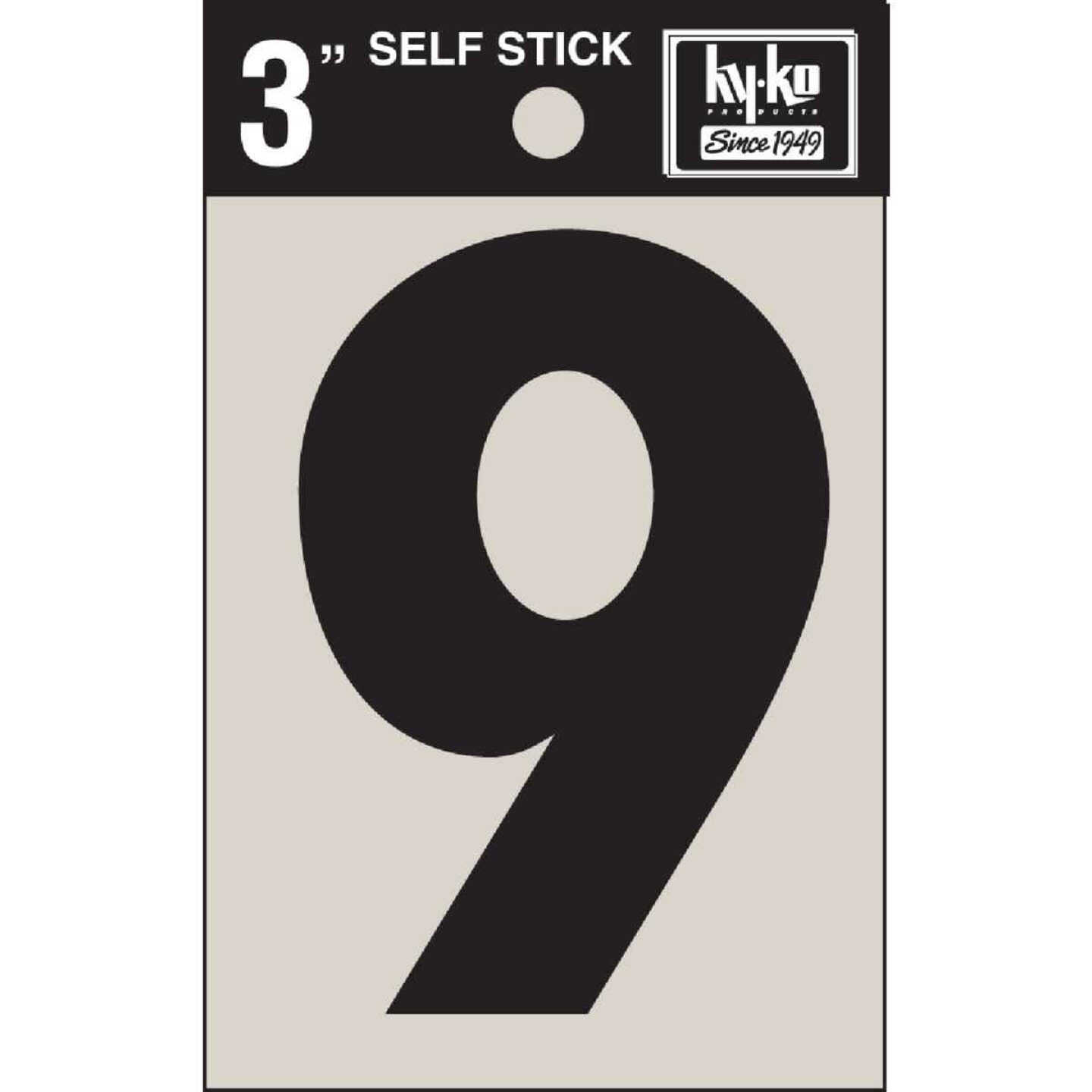 Hy-Ko Vinyl 3 In. Non-Reflective Adhesive Number Nine Image 1