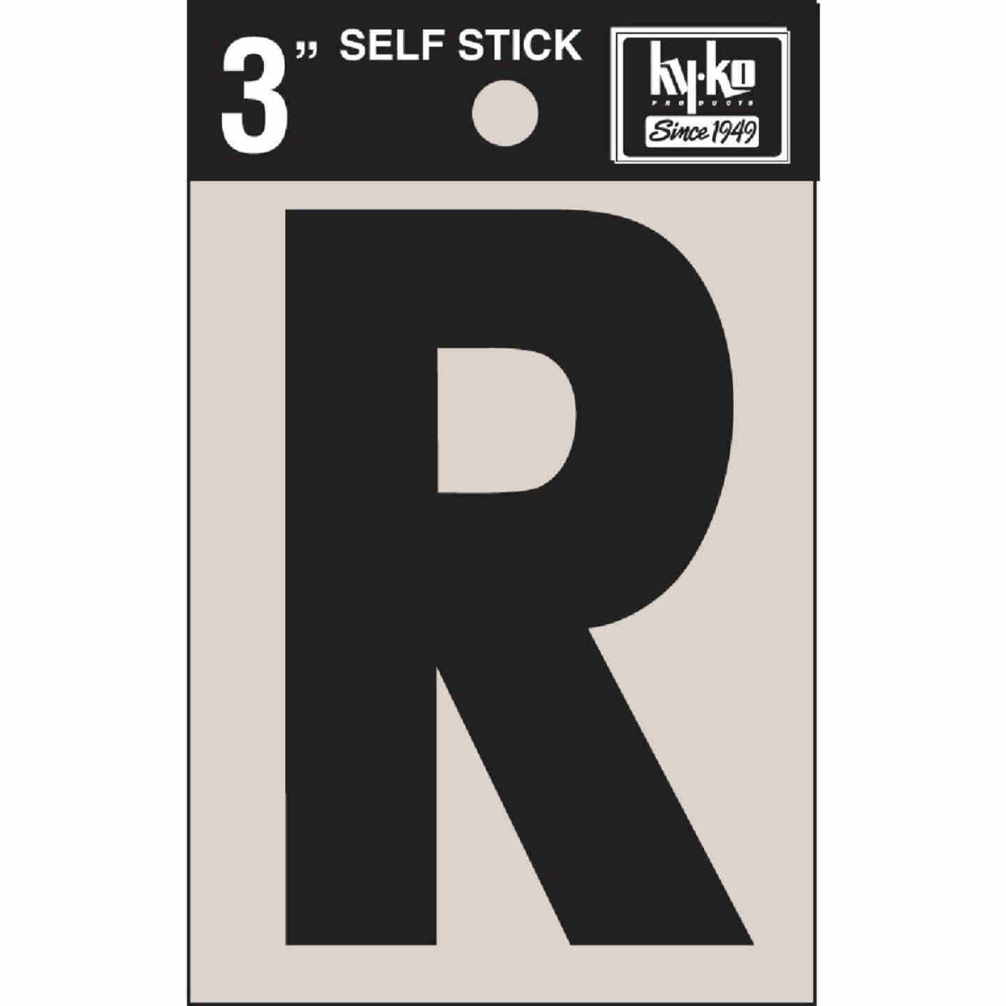 Hy-Ko Vinyl 3 In. Non-Reflective Adhesive Letter, R Image 1