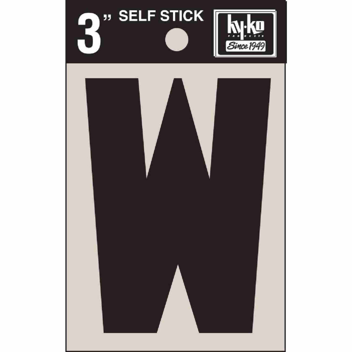 Hy-Ko Vinyl 3 In. Non-Reflective Adhesive Letter, W Image 1