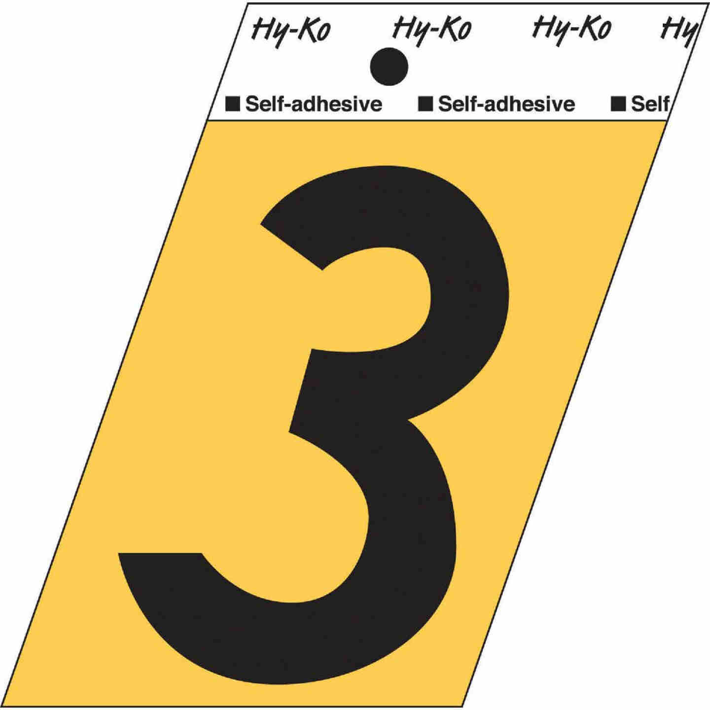 Hy-Ko Aluminum 3-1/2 In. Non-Reflective Adhesive Number Three Image 1