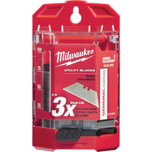 Milwaukee General Purpose 2-Point 2-3/8 In. Utility Knife Blade (75-Pack)