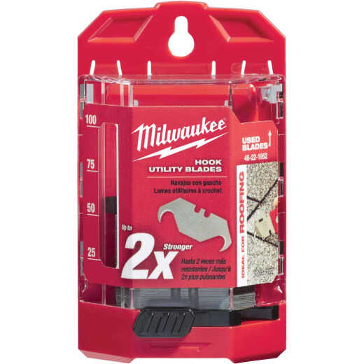 Milwaukee 2-Ended Hook 1-7/8 In. Utility Knife Blade (50-Pack)