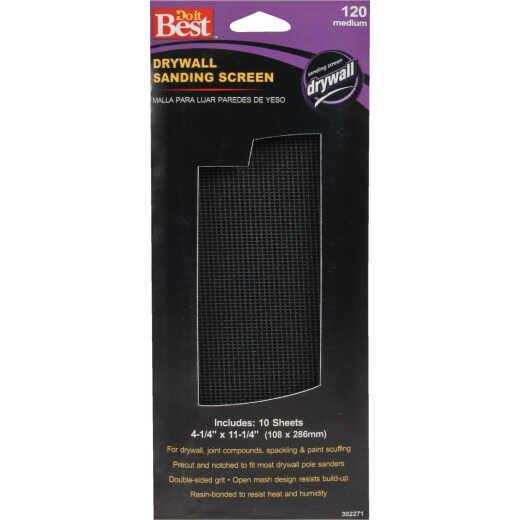 Do it Best 120 Grit 4-1/4 In. x 11-1/4 In. Drywall Sanding Screen (10-Pack)