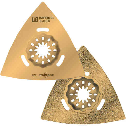 Imperial Blades Starlock 3-1/8 In. Triangle Carbide Grit Oscillating Blade