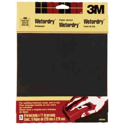 3M Wetordry 9 In. x 11 In. 400 Grit Super Fine Sandpaper (5-Pack)