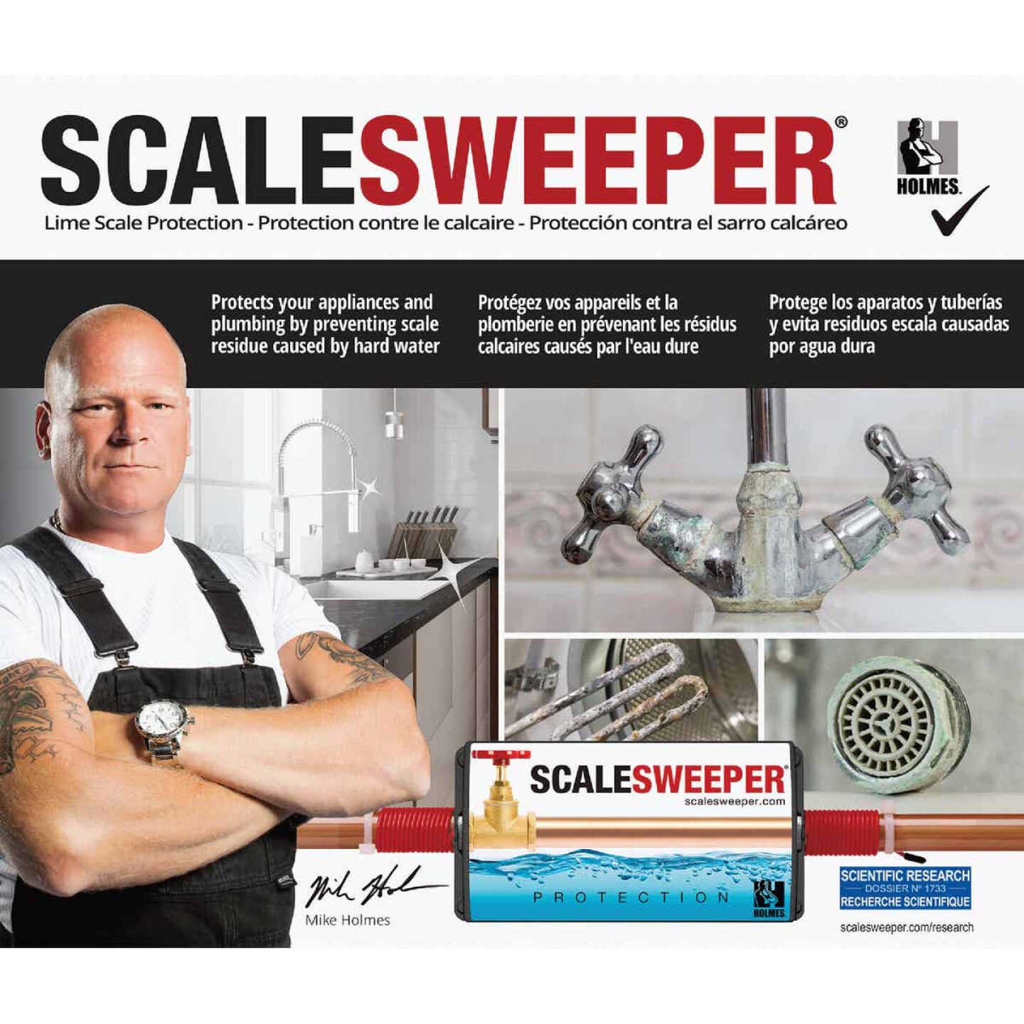 Scalesweeper Electronic Hard Water Conditioner & Water Descaler Image 5