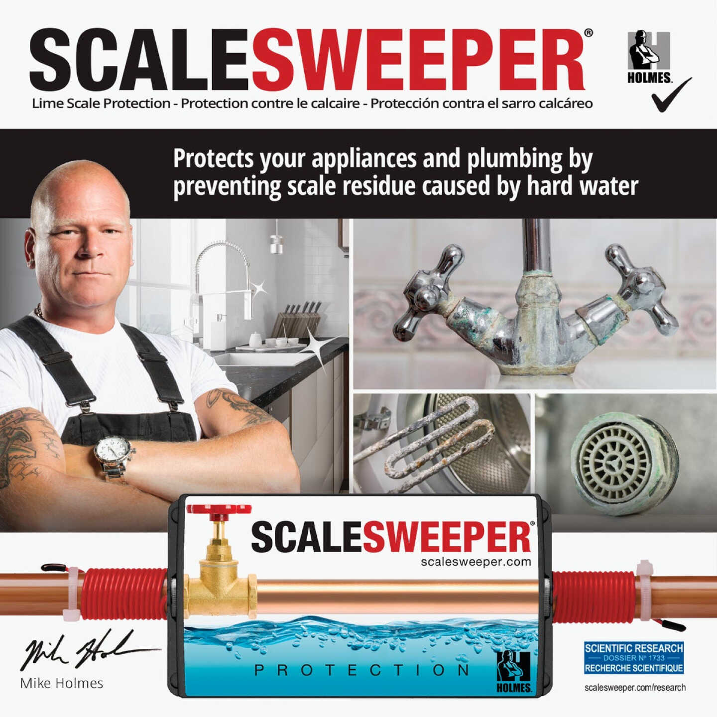 Scalesweeper Electronic Hard Water Conditioner & Water Descaler Image 6