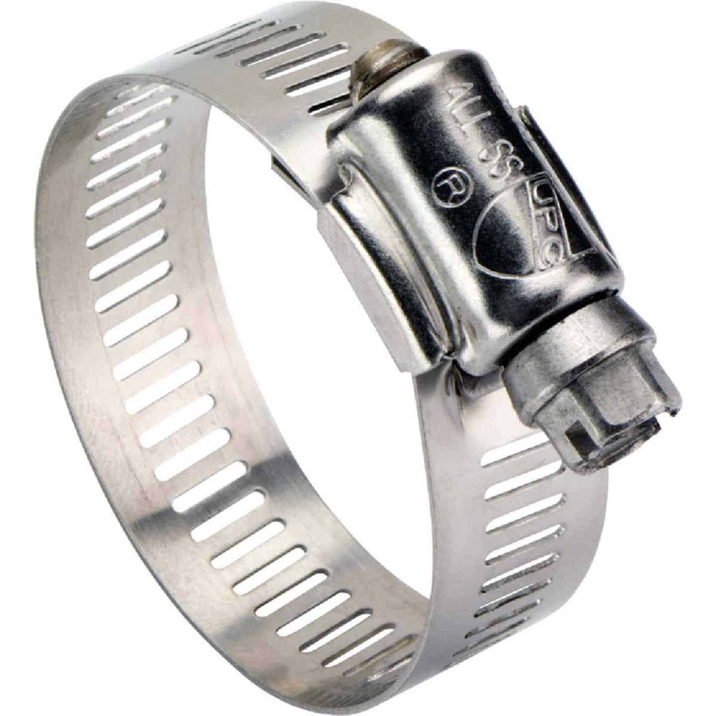 Ideal 4-1/2 In. - 6-1/2 In. All Stainless Steel Marine-Grade Hose Clamp Image 1