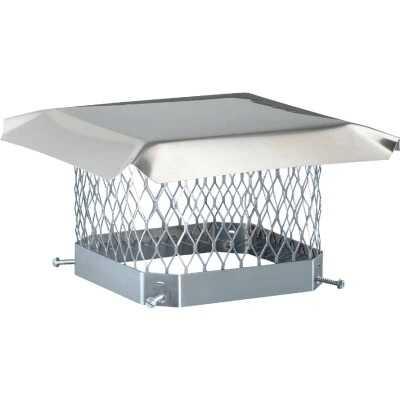 Shelter 9 In. x 13 In. Stainless Steel Single Flue Chimney Cap