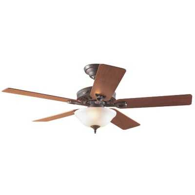 Hunter Astoria 52 In. New Bronze Ceiling Fan with Light Kit