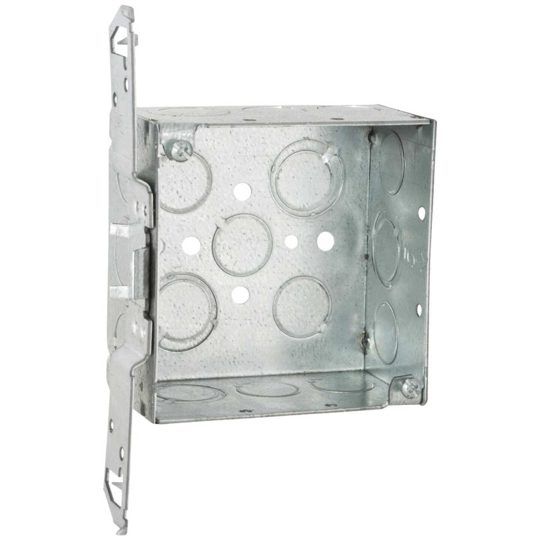 Raco Bracket Mount 4 In. x 4 In. Welded Steel Square Box Image 1