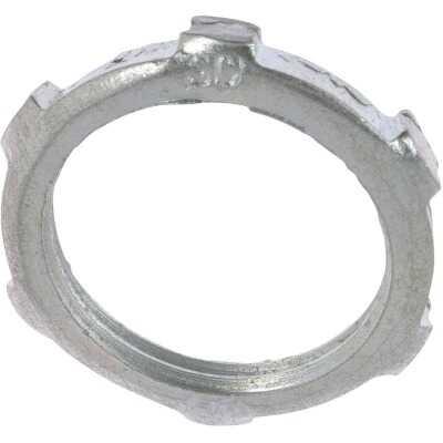 Halex 1-1/2 In. Rigid & IMC Steel Reversible Conduit Locknut (2-Pack)