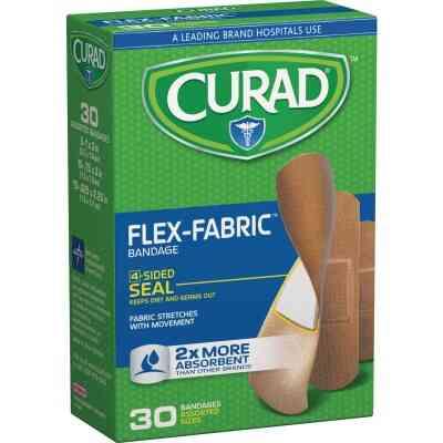 Curad Flex-Fabric Assorted Sizes Bandages, (30 Ct.)