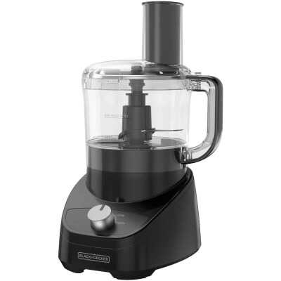 Black & Decker Quick 'N Easy 8-Cup Black Food Processor