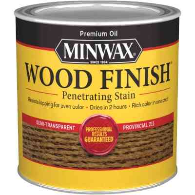 Minwax Wood Finish Penetrating Stain, Provincial, 1/2 Pt.