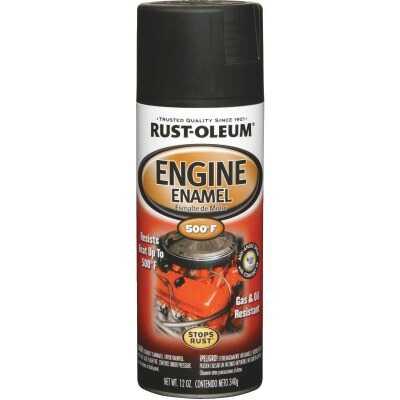 Rust-Oleum Stops Rust 12 Oz. Flat Black Engine Enamel Spray Paint