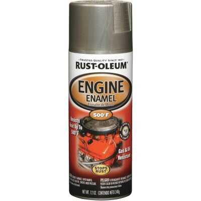 Rust-Oleum Stops Rust 12 Oz. Aluminum Gloss Engine Enamel Spray Paint