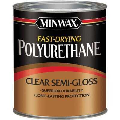 Minwax Semi-Gloss Fast-Drying Interior Polyurethane, 1/2 Pt.