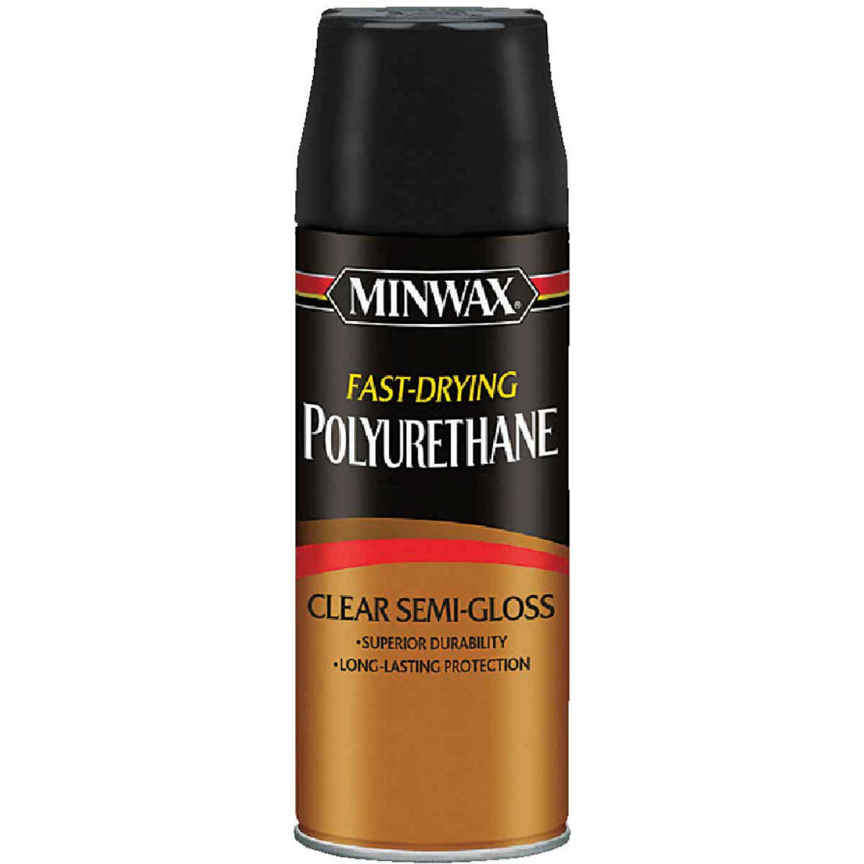 Minwax Semi-Gloss Clear Spray Polyurethane, 11.5 Oz. Image 1