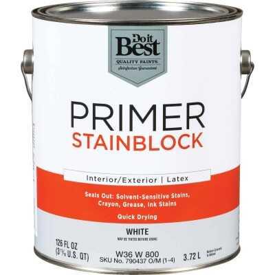 Do it Best Latex Interior/Exterior Stain Blocking Primer, White, 1 Gal.