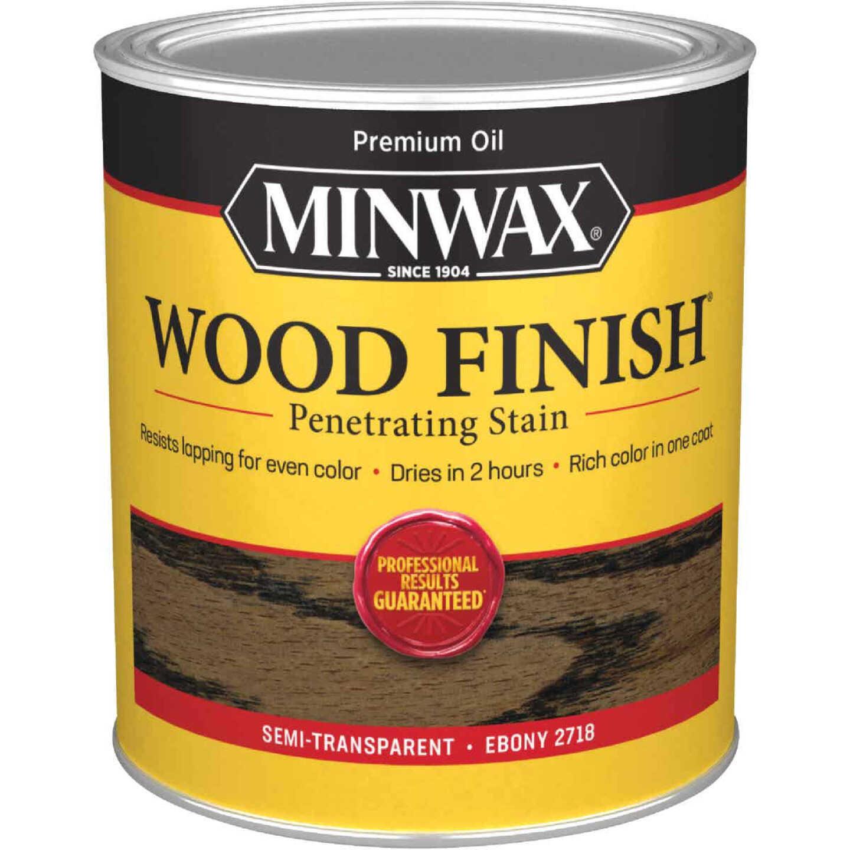 Minwax Wood Finish Penetrating Stain, Ebony, 1 Qt. Image 1