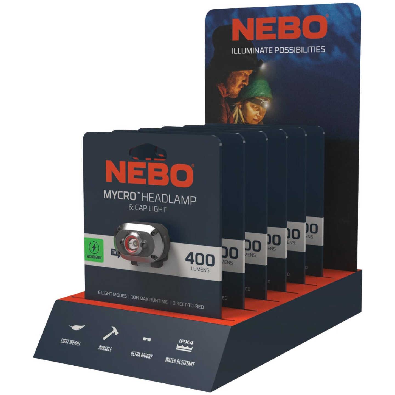 Nebo Mycro 400 Lm. LED Rechargeable Headlamp & Cap Light Image 2