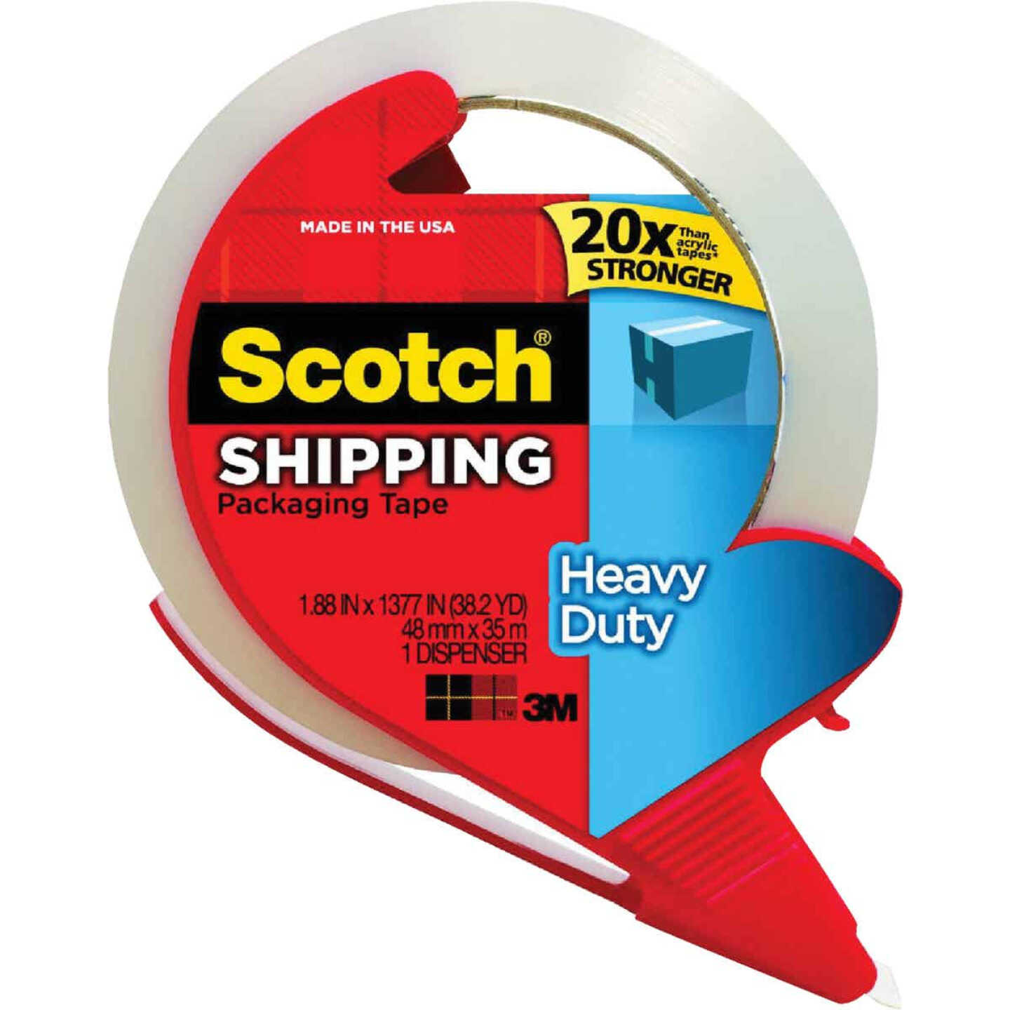 3M Scotch 1.88 In. x 38.2 Yd. Clear Packaging Tape with Refillable Dispenser Image 1