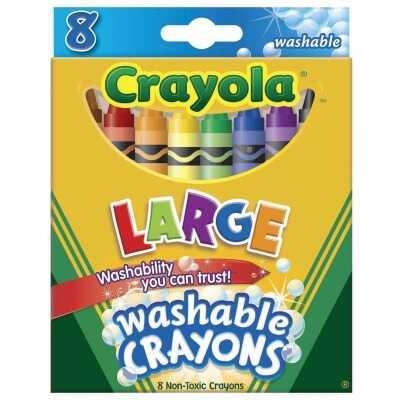 Crayola Large Washable Crayons (8-Pack)