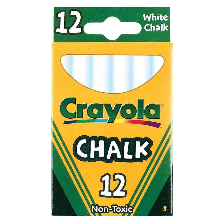 Crayola White Chalk (12-Count) Image 1